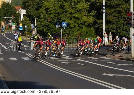 Katowice, Poland - August 5, 2020: The First Stage In The 77 Tour De Pologne Uci - World Tour, The 1