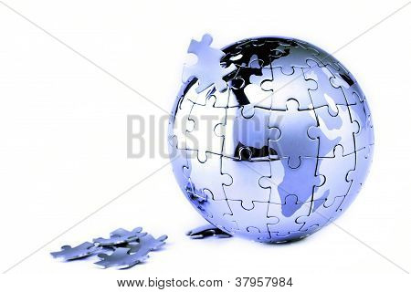 Globe Puzzle Of Jigsaw