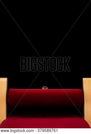 Theater Red Seat,empty Seat, Poster Background, Red Armchair, Black Background, Festival, Cinema, Th