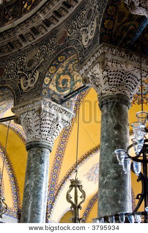 Hagia Sophia Interior Pillars And Arches