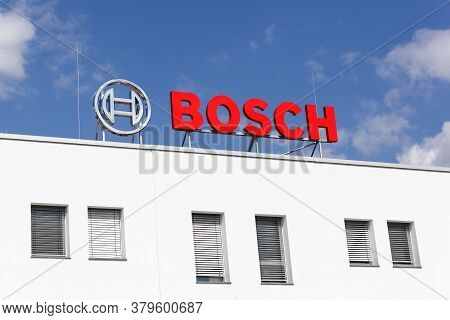 Frechen, Germany - September 2, 2018: Bosch Logo On A Building. Bosch Is A German Multinational Engi