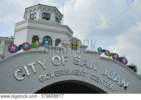 San Juan, Ph - Nov 17 - San Juan City Government Center Facade On November 17, 2018 In San Juan, Phi