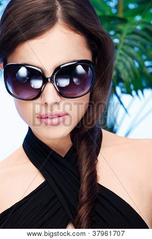 Woman With Big Sun Glasses