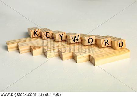 Blocks With Word Keyword On White Table