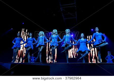 Dancers performing live on the stage