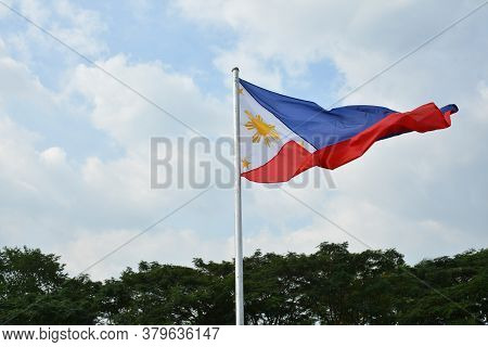 San Juan, Ph - Nov 17 - Philippine National Flag On November 17, 2018 In San Juan, Philippines.