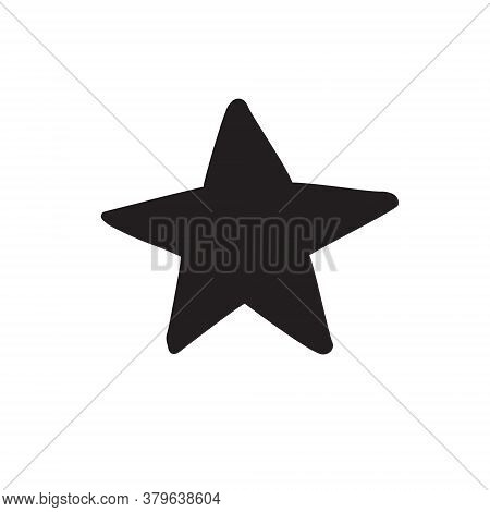 Vector Hand Drawn Doodle Sketch Star Silhouette Isolated On White Background