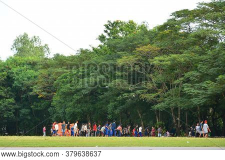 San Juan, Ph - Nov 17 - Pinaglabanan Shrine Grass And Trees Field On November 17, 2018 In San Juan,