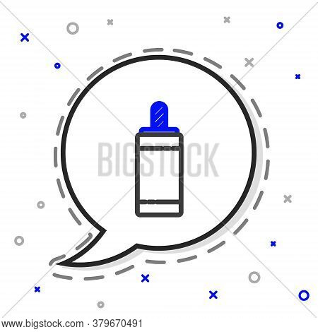 Line Firework Icon Isolated On White Background. Concept Of Fun Party. Explosive Pyrotechnic Symbol.