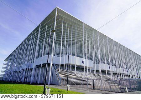 Bordeaux , Aquitaine / France - 10 25 2019 : Matmut Atlantique Stadium In Bordeaux Facade French Soc