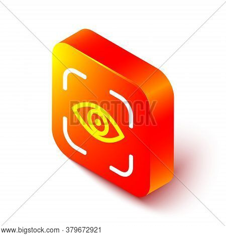 Isometric Line Eye Scan Icon Isolated On White Background. Scanning Eye. Security Check Symbol. Cybe