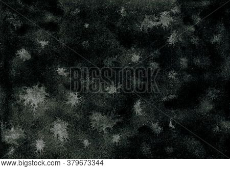 Dark Grunge Background. Black, Gray And White Colors. Abstract Watercolor Texture Background. Creati
