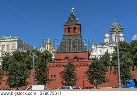 The Kremlin Wall From The Side Of The Moscow River