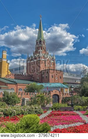 Colourful Flower Beds Of The First Public Park In Moscow (near The Moscow Kremlin) Make It A Favouri