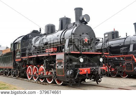 Soviet Steam Locomotive Of The First Half Of The 19Th Century Series Em In The Museum Of Railway Eng