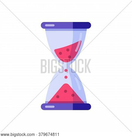 Hourglass Sandglass Clock Time Vector Flat Illustration