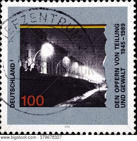 02 09 2020 Divnoe Stavropol Territory Russia The Postage Stamp Germany 1995 The Victims Of Splitting