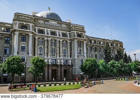 Kharkiv, Ukraine - July 20, 2020: Historical Building Of The Southern Railway Administration At The
