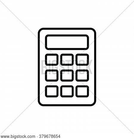Calculator Line Icon Vector. Calculator Icon Isolated On White Background. Calculator Icon Simple An