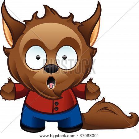 Werewolf Monster - Shocked.eps