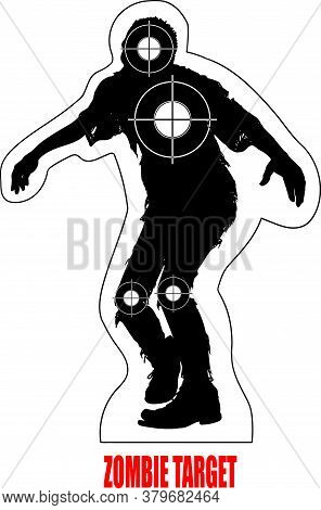 Black And White Walking Dead Zombie Target With Crosshairs