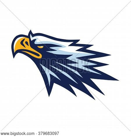 Eagle Head Mascot Logo Mascot Design Vector Illustration