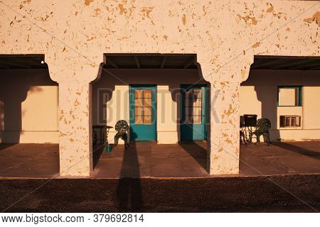 Death Valley / United States - 10 Jul 2017: Hotel In Death Valley, California, Usa