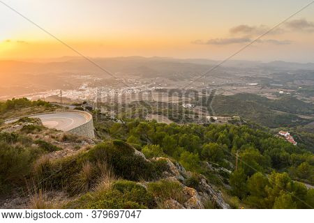 Scenic Landscape Of Menorca Island At Sunset Time, Balearic Islands, Spain