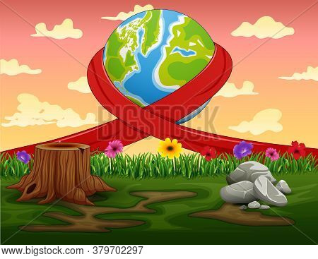 Happy World Day With Nature Background Illustration