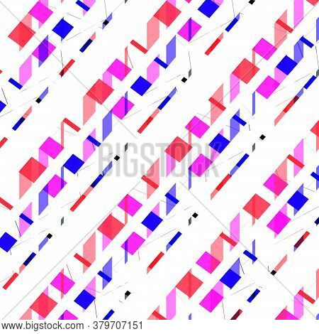 Textile Pattern Design , Multicolour Lined Pattern Design For Textile, Seamless Stylized Chevron Pat