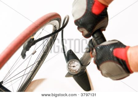 Air Pump With Bicycle