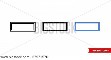 Row Icon Of 3 Types. Isolated Vector Sign Symbol.