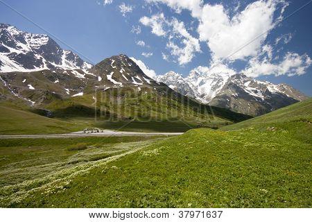 The mountain landscape (Monetier Les Bains)