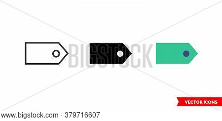 Tag Window Icon Of 3 Types. Isolated Vector Sign Symbol.