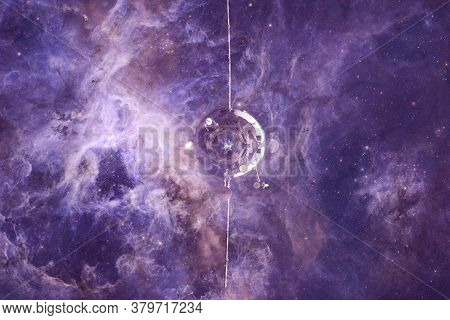 Spacecraft Launch Into Space. Cosmos Art. Elements Of This Image Furnished By Nasa