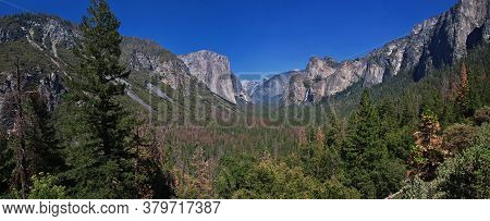 Yosemite / United States - 12 Jul 2017: Yosemite National Park In California, Usa