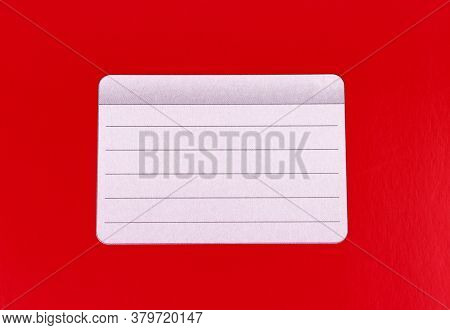 Red Background. Red Notebook Isolated On A White Background. School Education. Copy Space. Place For