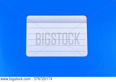 Blue Background. Blue Notebook Isolated On A White Background. School Education. Copy Space. Place F