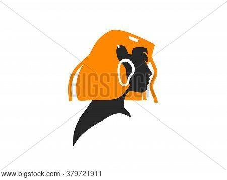 Hand Drawn Vector Abstract Stock Flat Graphic Illustration With Woman Fashion Magic Silhouette With