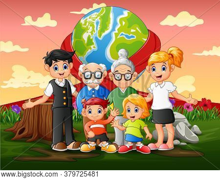 International World Day With Family Members Illustration