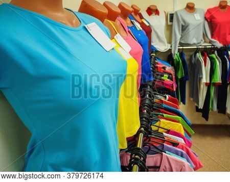 Plastic Mannequin Multicolored Clothed, For Women, Sexy.\rtraining Form On A Mannequin In The Shop W