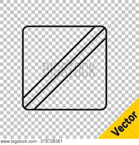 Black Line Sewing Pattern Icon Isolated On Transparent Background. Markings For Sewing. Vector Illus