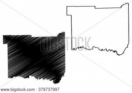 Jackson County, Indiana (u.s. County, United States Of America, Usa, U.s., Us) Map Vector Illustrati