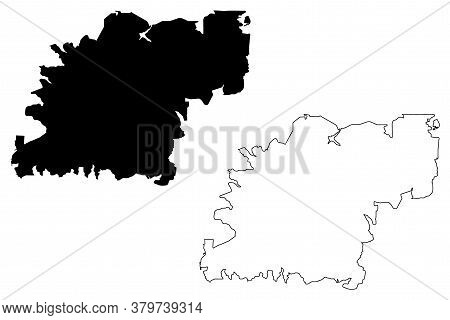 Caxias Do Sul City (federative Republic Of Brazil, Rio Grande Do Sul State) Map Vector Illustration,