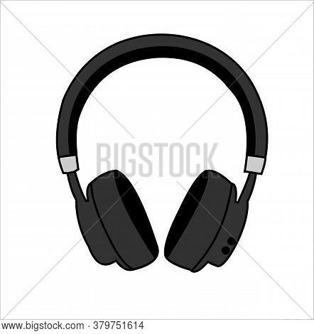 Illustration Of Instrument Headphones Listening To Music