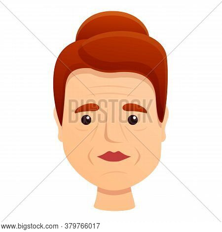 Woman Skin Wrinkles Icon. Cartoon Of Woman Skin Wrinkles Vector Icon For Web Design Isolated On Whit
