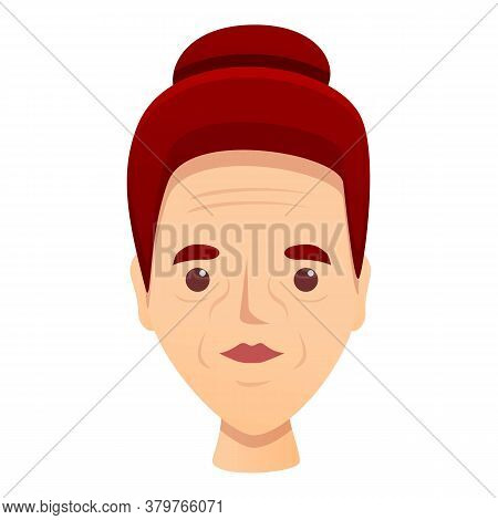 Woman Treatment Wrinkles Icon. Cartoon Of Woman Treatment Wrinkles Vector Icon For Web Design Isolat