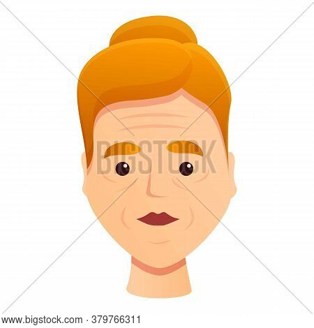 Woman Problem Wrinkles Icon. Cartoon Of Woman Problem Wrinkles Vector Icon For Web Design Isolated O