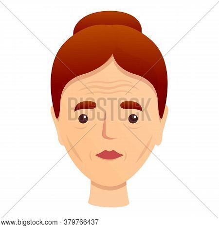 Woman Dermatology Wrinkles Icon. Cartoon Of Woman Dermatology Wrinkles Vector Icon For Web Design Is