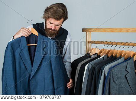 Long Working Day. Fashion Design Studio. Male Fashion Designer. Individual Measures Hand Of Man. Man
